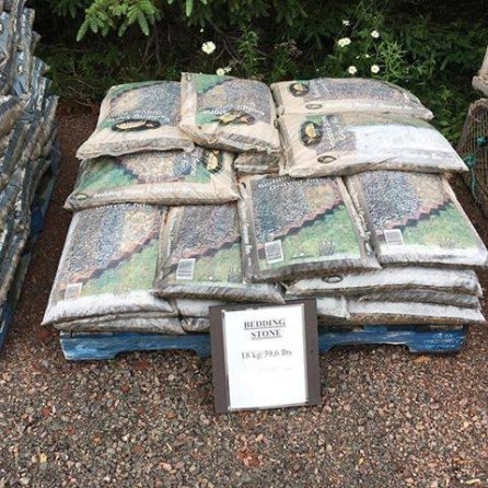 Bedding stone at Mel's Gardening