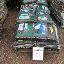 Black Cedar Mulch at Mel's Gardening
