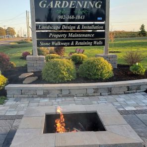 Mels Gardening Sign and Firepit 2
