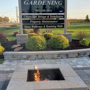 Mels Gardening Sign and Firepit 2