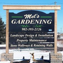 Mel's Gardening Sign