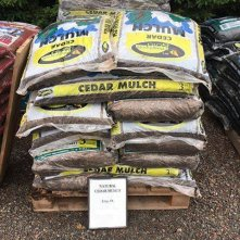 Natural Cedar Mulch at Mel's Gardening