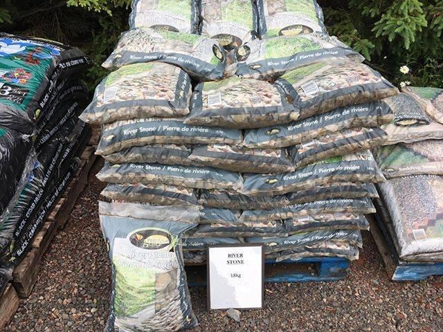 River stone at Mel's Gardening