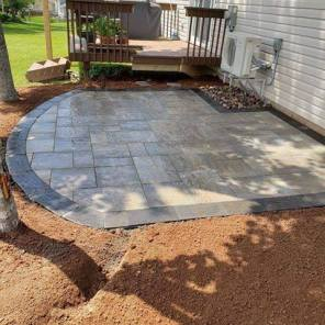 After stone patio