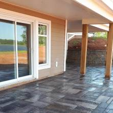 After stone patio and retaining walls for phot gallery page