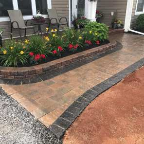 After stone walkway