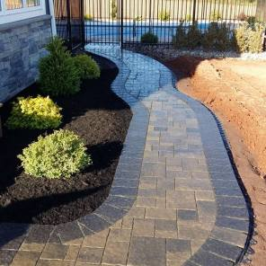 Beautiful curved stone walkway