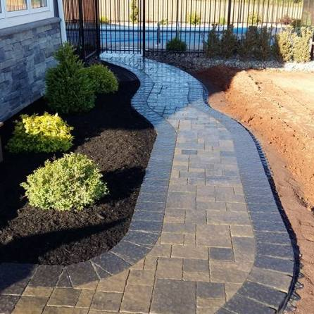 Beautiful curved stone walkway
