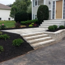 landscaping and hardscaping project by Mel's Gardening PEI