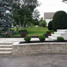Oaks Fieldstone retaining wall