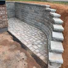Oaks Fieldstone retaining wall