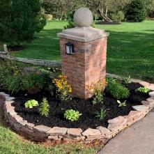 Flagstone garden wall